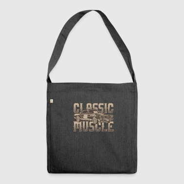 Classic muscle cars - Shoulder Bag made from recycled material