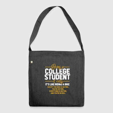 College student - Shoulder Bag made from recycled material