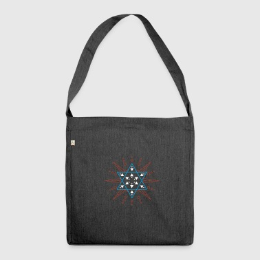 Star of David colorful - Shoulder Bag made from recycled material