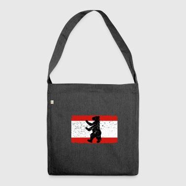 Berlin Bear Berlin bear with Berlin flag - Shoulder Bag made from recycled material