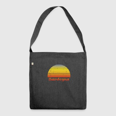 Sardinia Italy Mediterranean vintage tshirt - Shoulder Bag made from recycled material