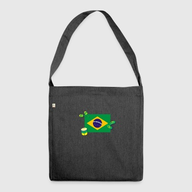 Brazil - The land of Samba, flip-flops and energy! - Shoulder Bag made from recycled material