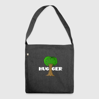 Beautiful Nature Tree Tshirt Design Hugger Tree lover Nature Lover - Shoulder Bag made from recycled material