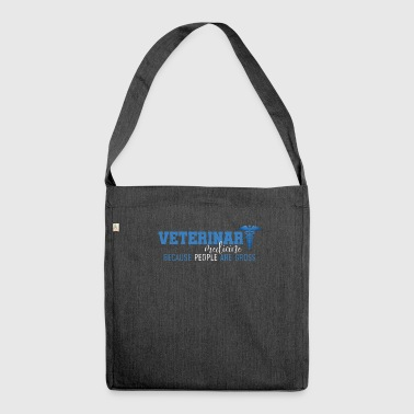VETERINARY MEDICINE - BECAUSE PEOPLE ARE GROSS - Schultertasche aus Recycling-Material