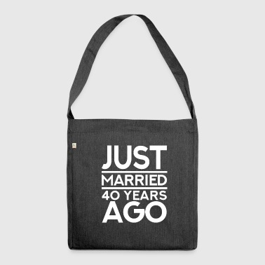 40 anniversary wedding day - Shoulder Bag made from recycled material