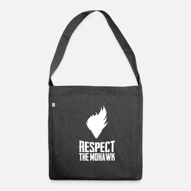 Mohawk Respect The Mohawk Funny Haircut Style Novelty - Shoulder Bag made from recycled material