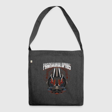 Cyborg Parasaurolophus Dinosaur Scifi - Shoulder Bag made from recycled material