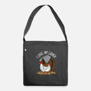 Chicken Chicken chickens farmer's wife farmer gift chicken coop - Shoulder Bag made from recycled material