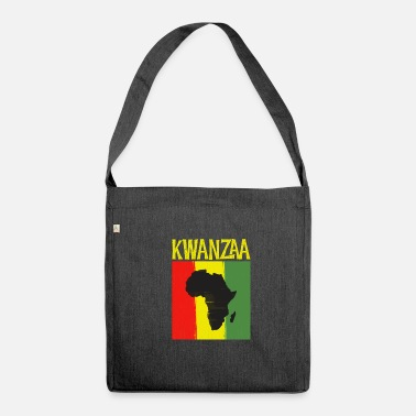 Ancestry Kwanzaa Africa Map Black Ancestry Heritage Holiday - Shoulder Bag recycled
