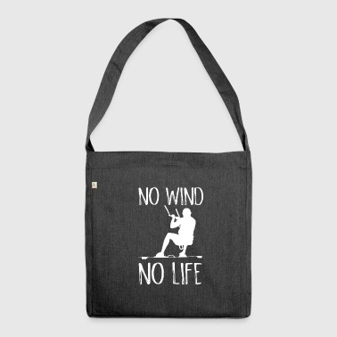 No Wind No Life Kite Kiteboarder Kiteboarder - Shoulder Bag made from recycled material