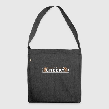Cheeky Naughty Monkey Monkey Cute Funny Gift - Shoulder Bag made from recycled material