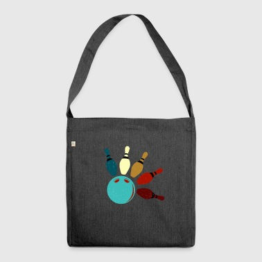 Bowling skittle gift - Shoulder Bag made from recycled material