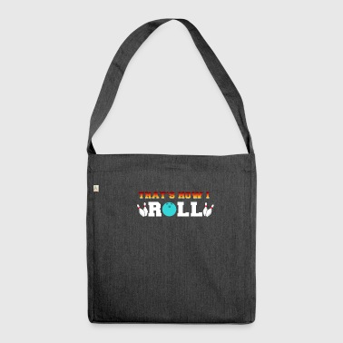 Vintage bowling skittles gift - Shoulder Bag made from recycled material