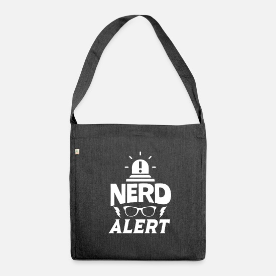Genius Bags & Backpacks - Nerd nerd - Shoulder Bag recycled heather black