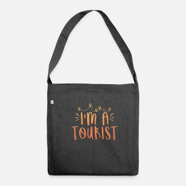 Tourist Saying Holiday Gift Tourist Summer Backpacker - Schoudertas van gerecycled materiaal