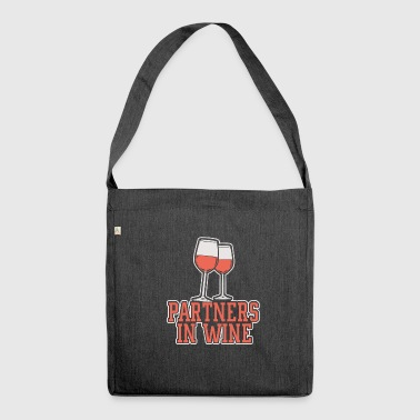 Partner in wine - Shoulder Bag made from recycled material
