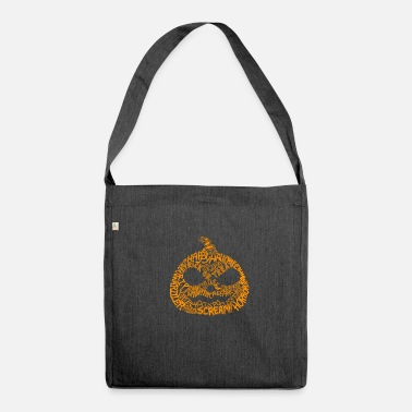 Scary Pumpkin Halloween - Shoulder Bag recycled