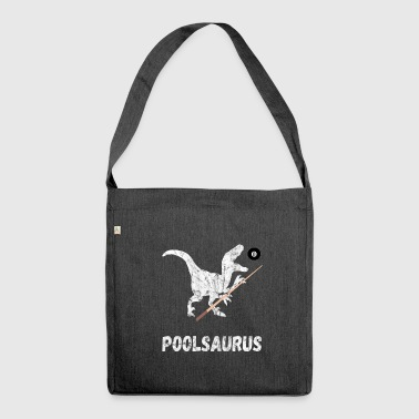 Pool Saurus Billiards 8Ball Cue Snooker Gifts - Shoulder Bag made from recycled material