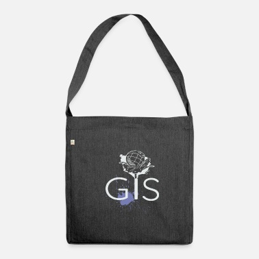 Geografie Gis Welt Gis Geografie Fan - Schultertasche aus Recycling-Material