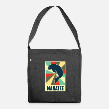 Manatee Vintage Style Manatee Manatee - Shoulder Bag made from recycled material