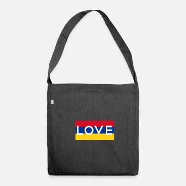 Bogota Colombia Love Love Bogota Colombia - Shoulder Bag made from recycled material