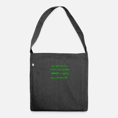Chatter No blabber - End of chatter, people - Shoulder Bag made from recycled material