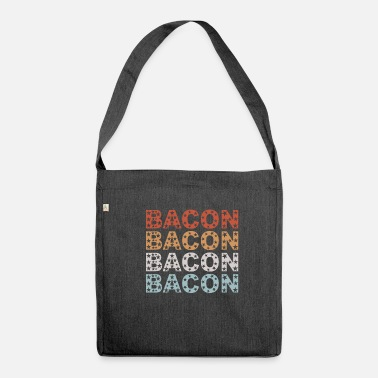 Bacon Bacon Bacon Bacon Bacon star Bacon Lover Food Shirt - Shoulder Bag made from recycled material