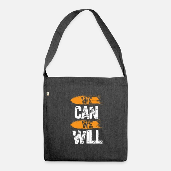 Ziel Bags & Backpacks - We Can We Will - Shoulder Bag recycled heather black