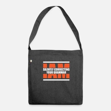Grammar Grammar - Shoulder Bag made from recycled material