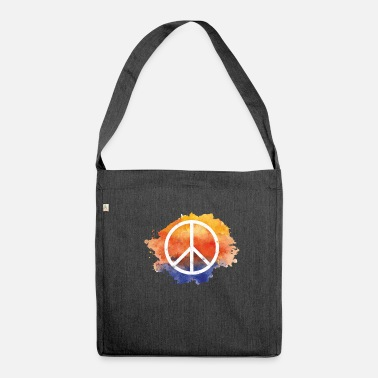 Symbol Symbol peace gift world peace hippie - Shoulder Bag recycled