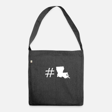 Louisiana hashtag louisiana - Borsa in materiale riciclato