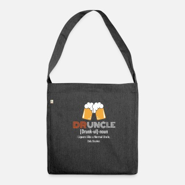 Druncle T-shirt Funny drunker uncle - Sac bandoulière 100 % recyclé