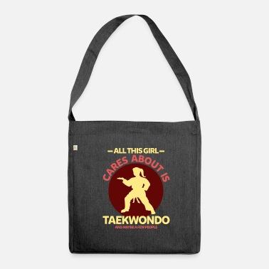 Ponytail Taekwondo ponytail girl karate - Shoulder Bag made from recycled material