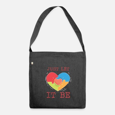 Let Let it be - Shoulder Bag made from recycled material