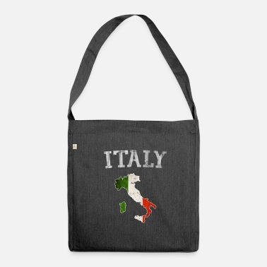 Italian Flag Vintage Italia Italy Italian flag country outline - Shoulder Bag made from recycled material