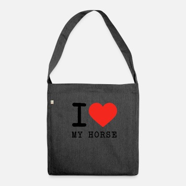 I Love My Horse I love My Horse - Umhängetasche aus Recyclingmaterial