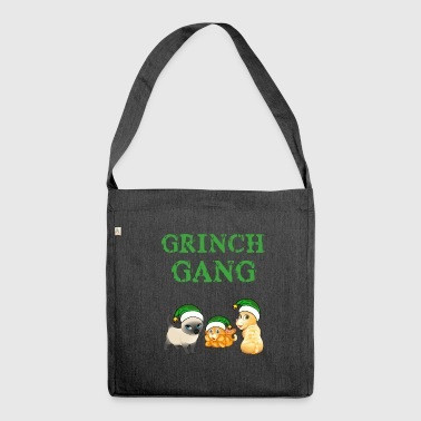Grinch Grinch cat gear Christmas - Shoulder Bag made from recycled material