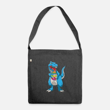 Easter Bunny Dinosaur T-Rex Easter Bunny Happy Easter Gift - Shoulder Bag recycled