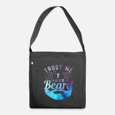 Facial Hair Beard facial hair mustache - Shoulder Bag recycled