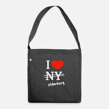Oldenburg Ich liebe Oldenburg - I love Oldenburg - Schultertasche aus Recycling-Material