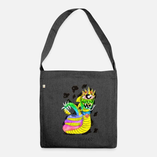 Zodiac Bags & Backpacks - multi-color serpentine - Shoulder Bag recycled heather black