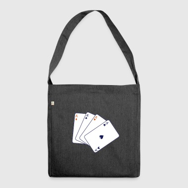 card game - Schultertasche aus Recycling-Material