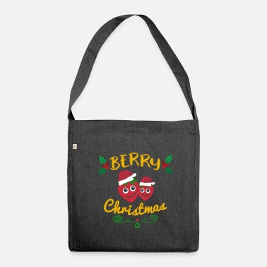 Christmas Berry Christmas Berry Christmas - Skuldertaske af recycling-material