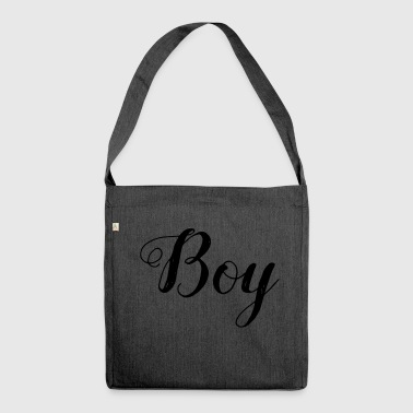 Boy - boy - Shoulder Bag made from recycled material