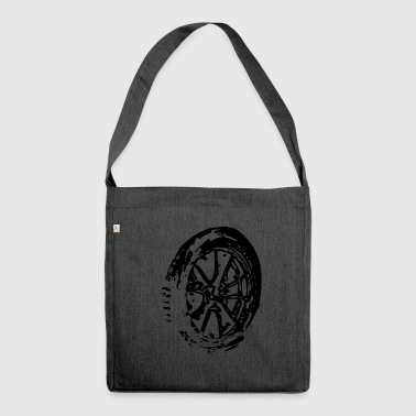 Steering Wheel Alloy wheels - Shoulder Bag made from recycled material