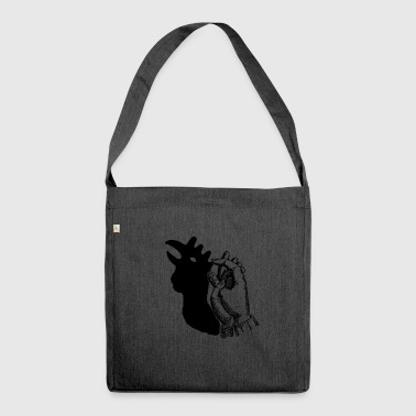 The rooster in the shade - Shoulder Bag made from recycled material