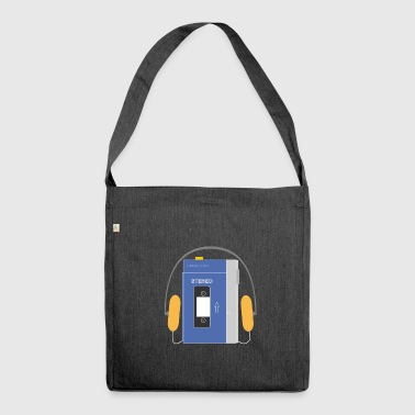 Stereo-Walkman in Blau - Schultertasche aus Recycling-Material