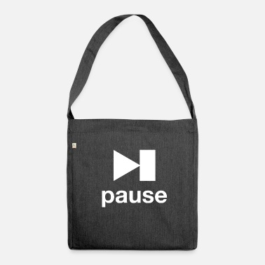 Pause pause - Schultertasche aus Recycling-Material