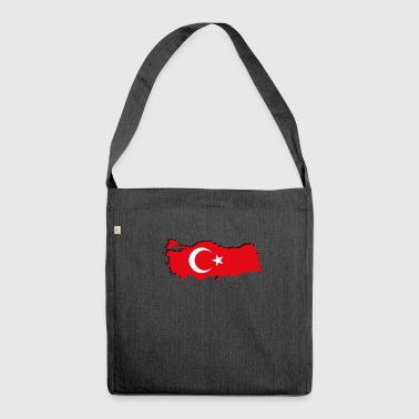 Geographic Turkey flag in geographic form - Shoulder Bag made from recycled material