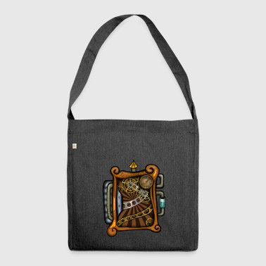 Steampunk - Borsa in materiale riciclato